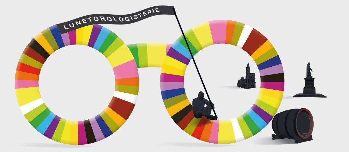 Graphisme lunettes couleurs C l'Optique lunetorologisterie opticien independant claude fersing strasbourg alsace Bas rhin